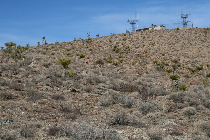 Taken during the hike back, offering a closer view of the radio towers.