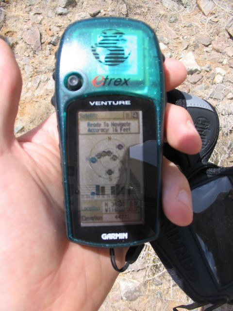 GPS view at the confluence