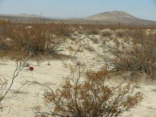 #1: Over three years since the last recorded visit, a red reflector still marks 35N 118W.