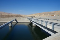 #12: The California Aqueduct, just 0.5 miles from the point, which lies up the hills on the far right