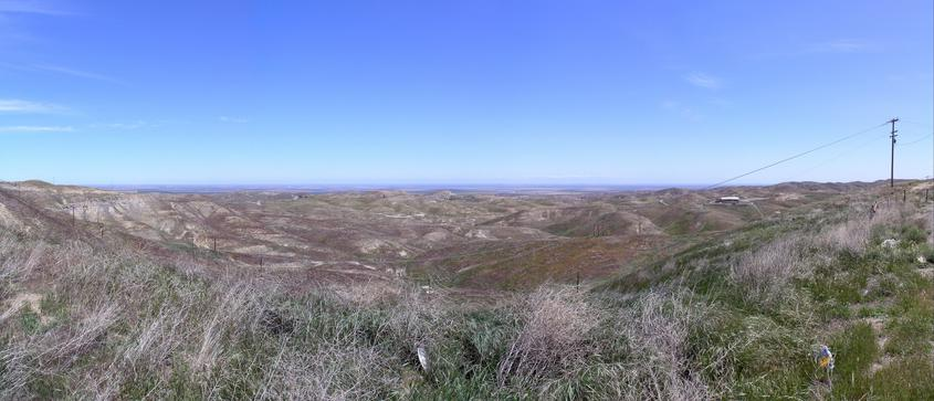 Panorama overlooking the confluence area from NW