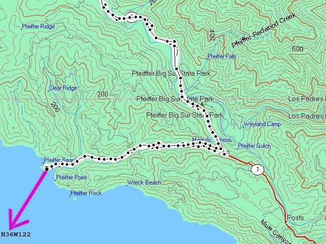 Topo map & track log