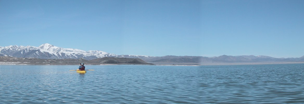 Looking northwest from the confluence toward Negit Island and the Sierra Nevada.