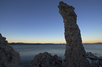 #1: Looking North towards the confluence point, 4.15 miles away, in Mono Lake