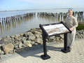 #8: Port Chicago: Wayside exhibit at Pier A site shows destruction from 1944 explosion.