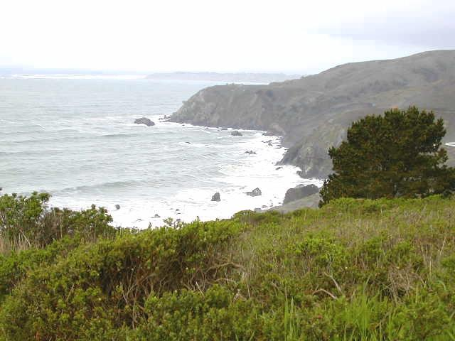 Coast along California Route 1