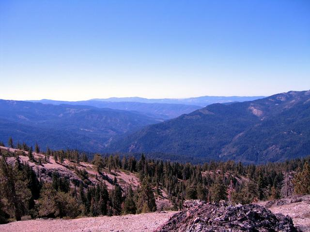 View South from top of Hammerhorn Ridge 800 feet above confluence and 1500 feet above parking location