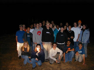 #1: Sacramento Adventist Academy Eighth Grade Students at the Confluence after daylight ran out