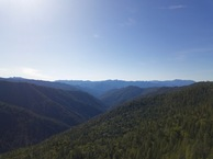 #10: View Southwest (down the Eliott Creek drainage) from 120m above the point