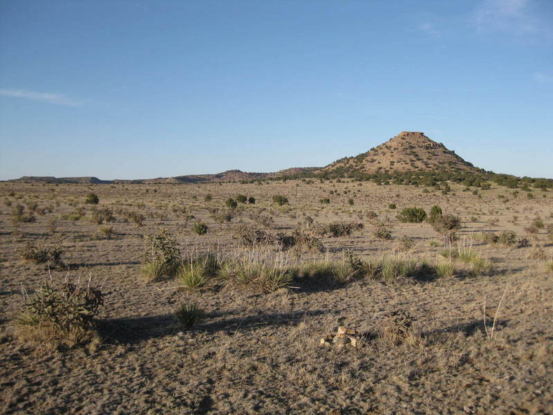 Looking northeast at the site