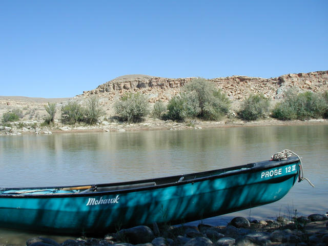 "San Juan River and ""ferrying device"""