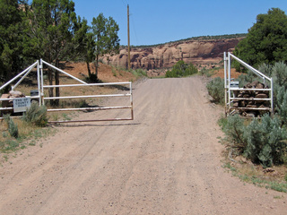 #1: Gate with No Trespassing sign