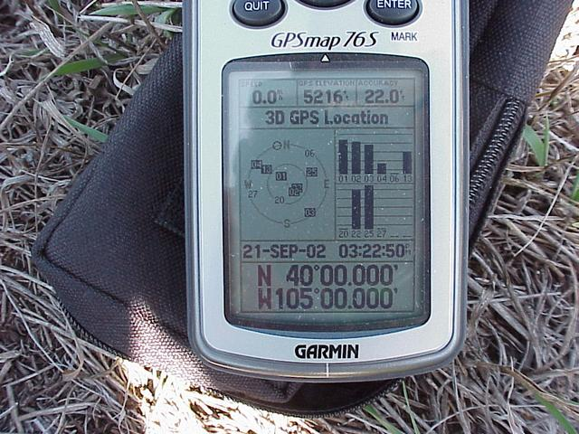 GPS coordinates indicating confluence success.