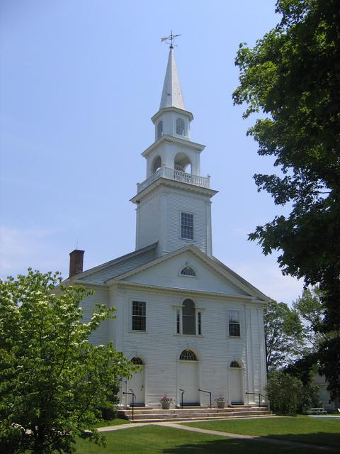 First Congregational Church in Woodstock