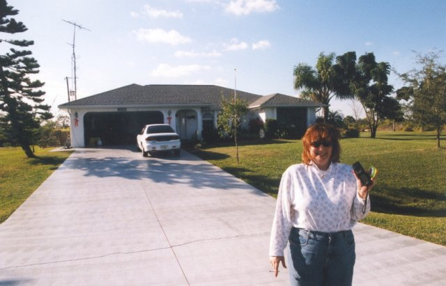 Deb in front of the confluence house!