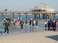 #4: Pier 60, landmark of Clearwater Beach. Removing the wetsuit.