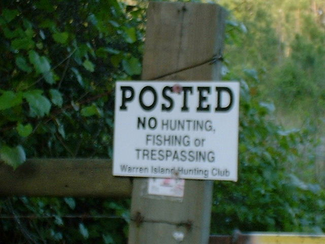 Hunting Club Sign
