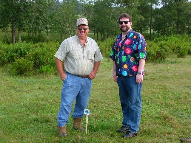 Ernie (landowner) and Todd (confluence hunter)