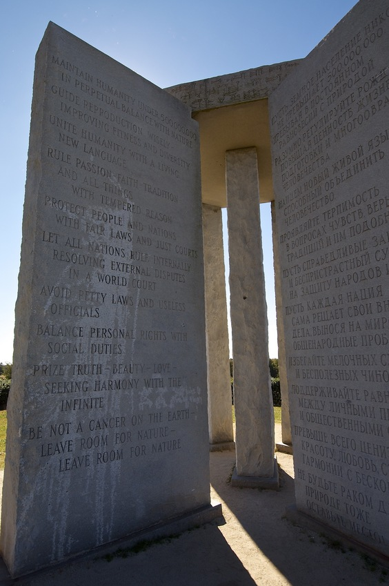 "The nearby ""Georgia Guidestones"""