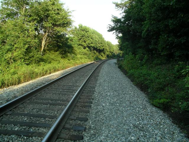 the railroad tracks I walked along