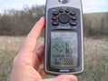 #3: GPS reading at the confluence site.