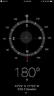 #8: Smartphone image of coordinates at confluence point.
