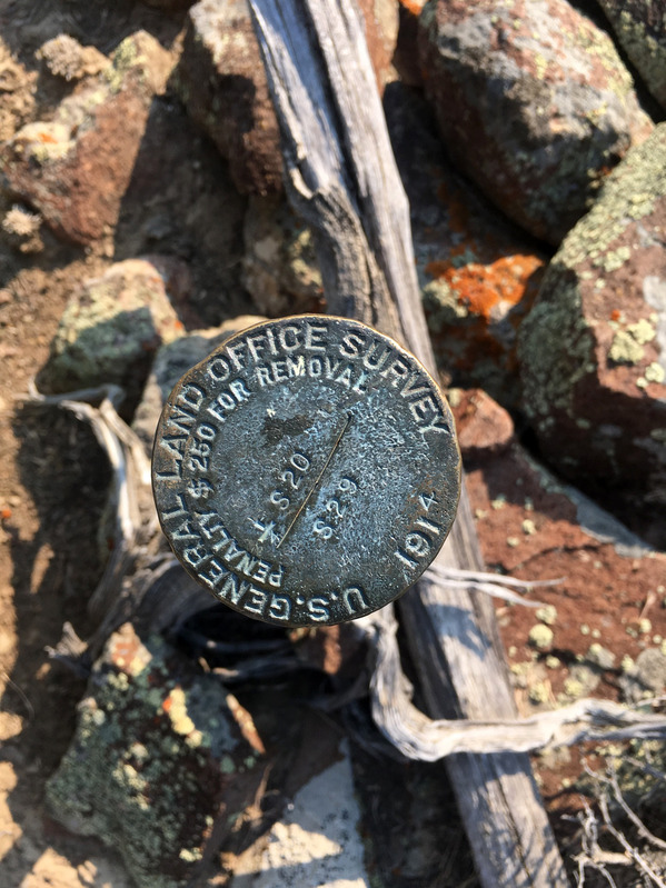 Survey marker 181 meters to Northeast of point