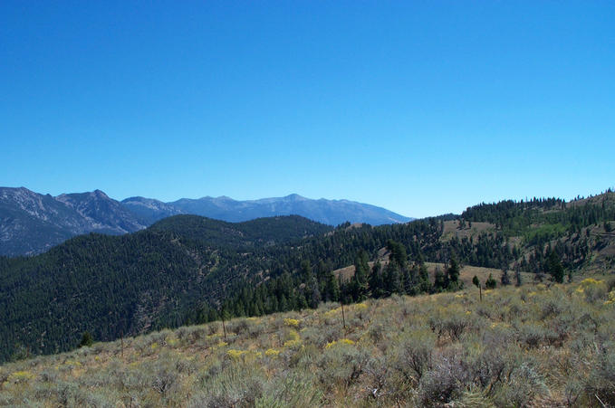 View southwest into central Idaho from the hill