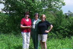 #1: My sisters Molly, Pam, and Judi at the Confluence