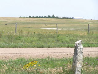 #1: View to the north along the 100th Meridian from the 38th Parallel.