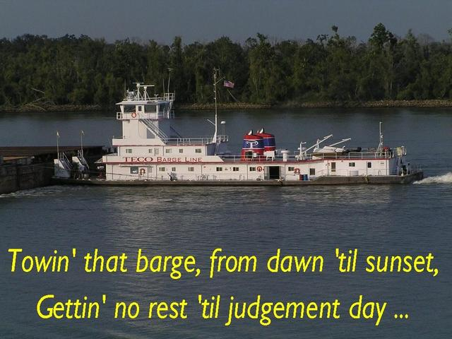 Barge pusher on the Mississippi