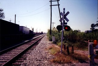 #1: The wrong side of the tracks, 30 meters from the confluence.