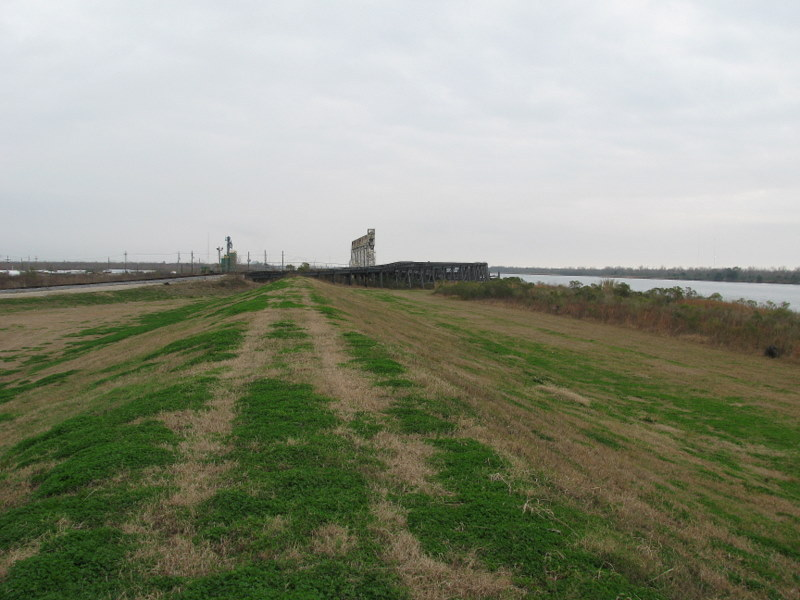 Looking East from the top of the levee