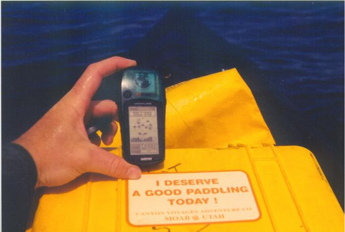 capturing a GPS photo in a kayak is not easy