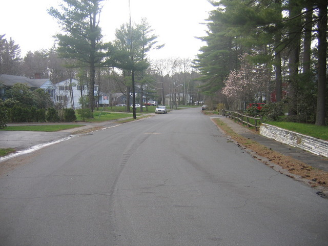 Looking West towards South Street