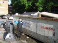 #5: Sadly, the confluence does not lie inside this dumpster, but 50 meters south of here.