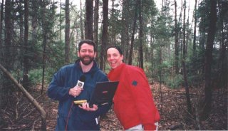 #1: Mark and Matt in the Maine woods at the confluence