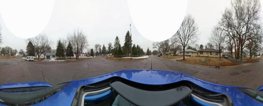 Kaidan 360 OneVR Panoramic shot from road intersection