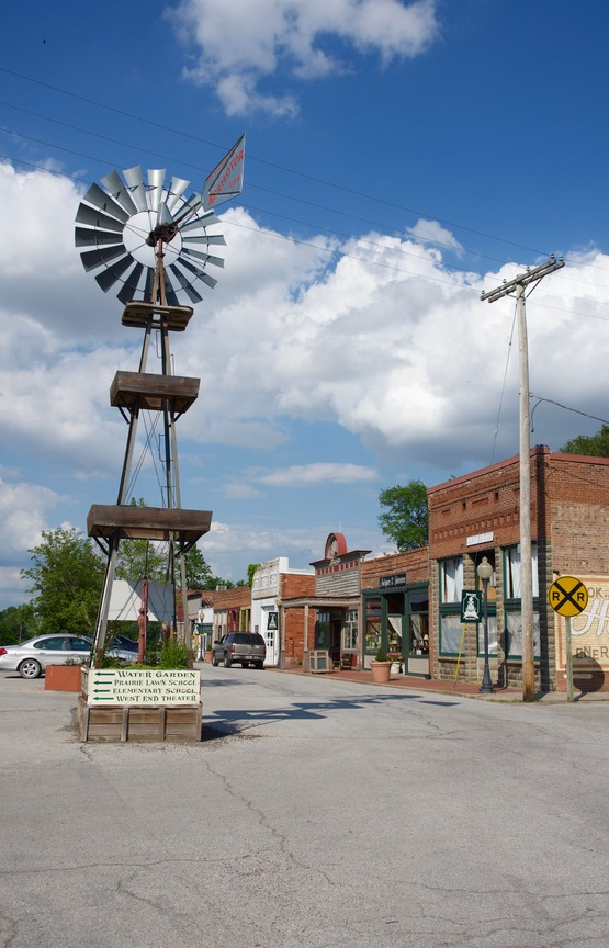 The historic nearby town of Blackwater, Missouri