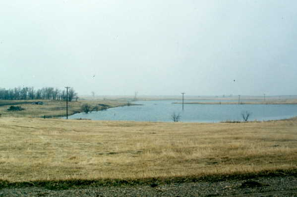 Lake that was formerly farmland