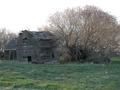 #3: Abandoned buildings along farm road leading to confluence