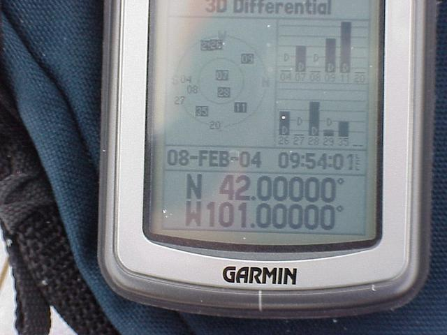 GPS unit at confluence site.