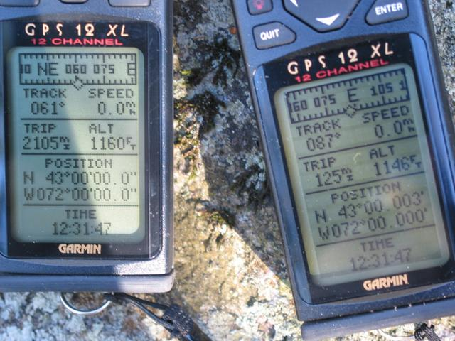 Two GPS units, almost in agreement