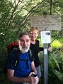 #9: Confluence Hunters turn west onto NH 25C after 1780.9 miles on the Appalachian Trail