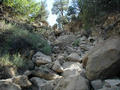 #2: Route up steep wash to confluence