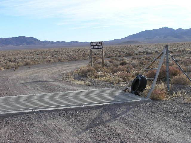 Here's where the gravel road enters Death Valley National Park
