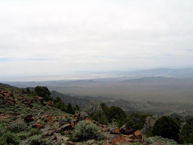 West across Antelope Valley.  Carson Sink visible in distance