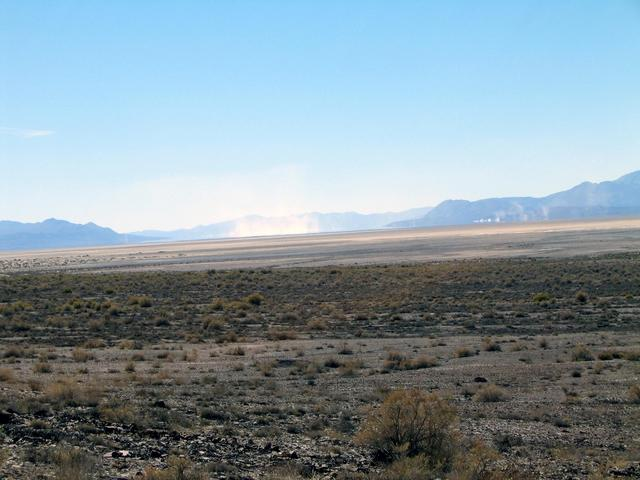 Looking back towards the Black Rock Desert