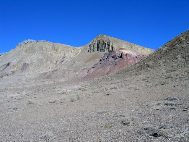 View Northeast towards a nameless mountain