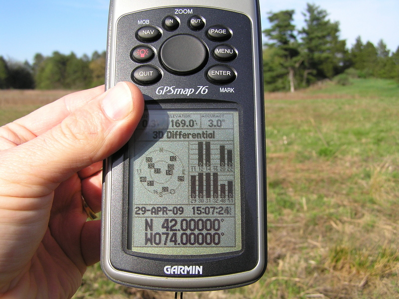 All zeroes on the GPS receiver at the confluence.